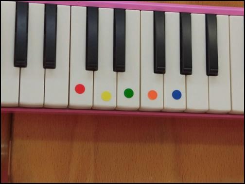 子供向けのピアノの鍵盤の画像