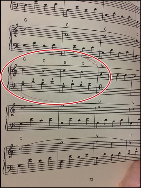大人のためのポピュラーバイエルの楽譜第11番の画像