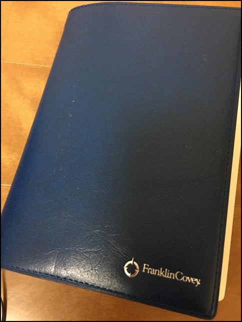 フランクリンプランナー手帳の画像