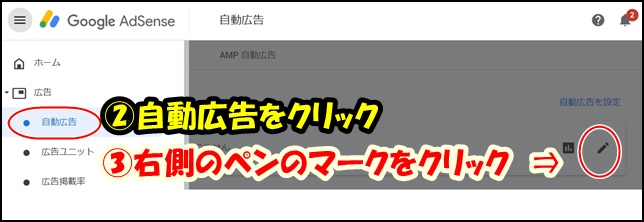 アドセンスの自動広告の項目画像