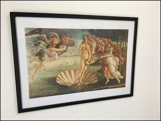 ヴィーナスの誕生の絵画の画像